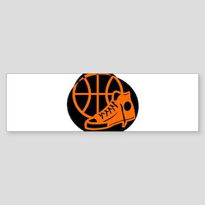 BASKETBALL *32* [orange} Sticker (Bumper)